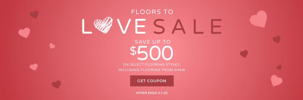 Floors to love sale banner | Dalton Wholesale Floors