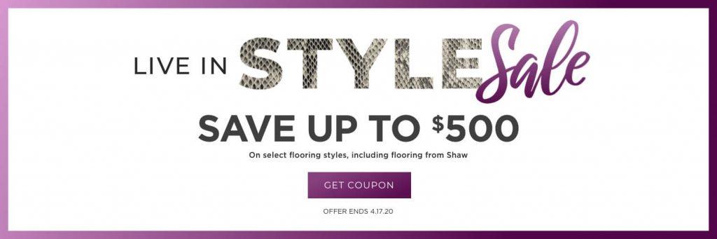 Live In style sale banner | Dalton Wholesale Floors