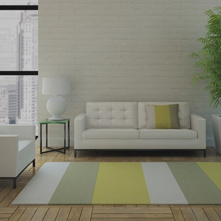 Stripped area rug